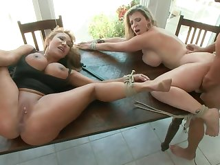 Cruel BDSM sex orgy forth two big titted moms. Sprightly clip. HD.