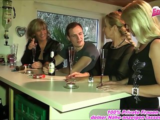 german volte-face gangbang with chubby tits mature
