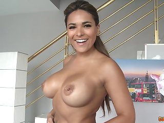 Latina milf shows gone her skills on a chunky dick