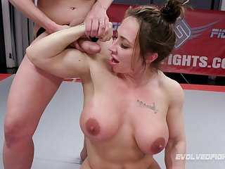 After she finished a match Brandi Mae gets her pussy banged by a non-specific