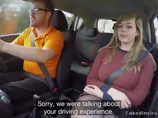 Fat spoils driving college girl plowing