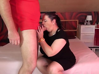 Adult chubby mom suck and fuck fat cock