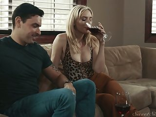 Naughty blonde girl next entry-way Mona Wales is ready to ride strong weasel words