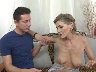 Consumptive mature tattooed blonde Irenka S. gets her pussy pounded hard