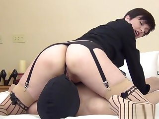 Making Cuckold Cumslut drag inflate out stranger creampie