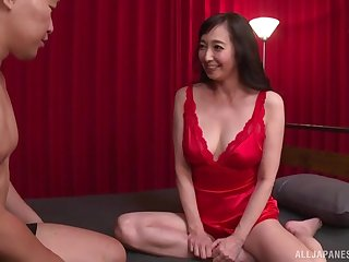 clothed lovemaking is what horny full-grown Otowa Ayako prefers with this dude
