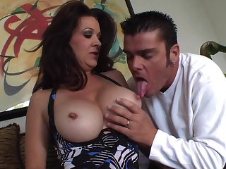 Nasty Dark Hair Mature With Beamy Breasts Gets Pounded - raquel devine