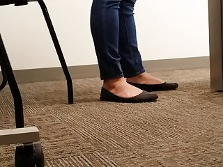A Look At An Office Managers Copiously Worn Negroid Ballet Flats