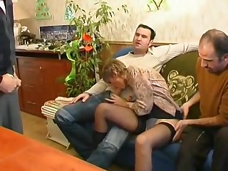 French French mature gangbanged
