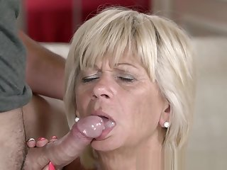 Fingered Granny Fucked and Facialized