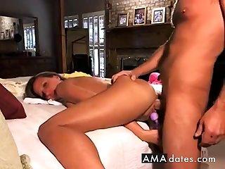 Stunning Blonde Milf Makes Hubby Cum Twice