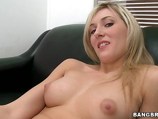 Blond newbie gets humped hard - lilly banks