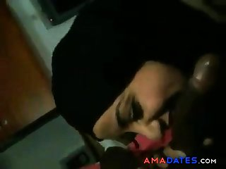 arab girl suck a chubby black cock