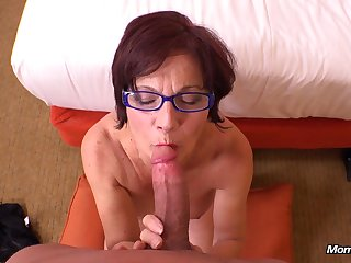 Heavy GILF in glasses hot amateur POV video