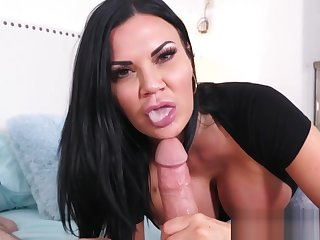 Milf gets POV facialized after sucking