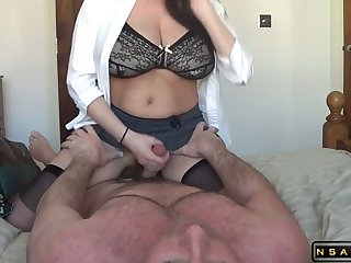 Lactating milf riding her whisper suppress