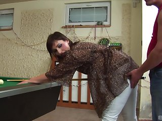 Amateur mature with a soft pussy fucked more than the pool table