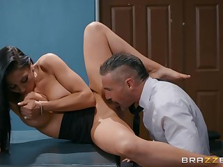 Charles Dera fucked busty MILF Audrey Bitoni in slay rub elbows with office