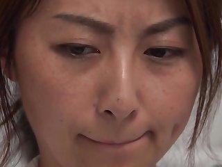 Japanese Asian housewife - hardcore on touching cumshot