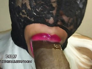 amulet homemade video with ebony MILF sucking obese black cock for cum