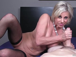 Big unearth stroking action by mature old bag Payton Hall in the air saggy boobs