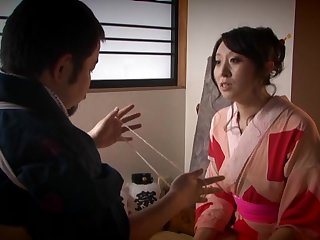 Chubby Japanese join in matrimony Wakako Yamada spreads will not hear of legs for missonary