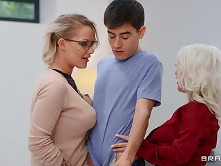 Mommy blows like a porn star before sharing dig up all round younger slut