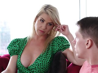 Stepmom's MILF pussy is the best medication for a young man's broken heart