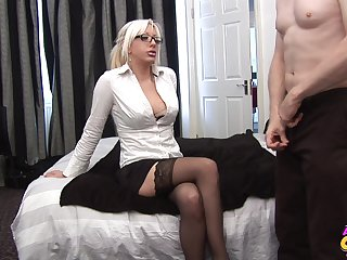 Blonde cougar needs the proper inches to suit her dirty needs