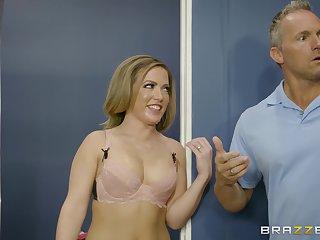 Interesting sex session with blonde hottie Carmen Valentina