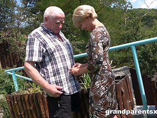 Premium grown up shares old man's dick with younger niece