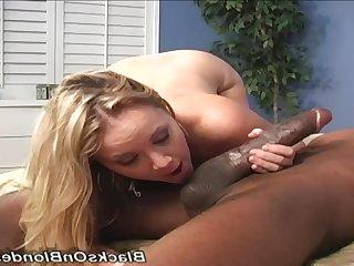 Lickerish doxy Amber Snitch hot interracial clip