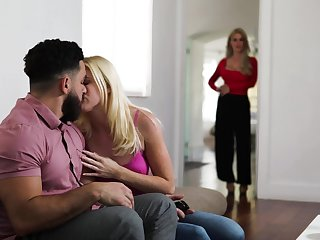 Jealous stepmom watches say no to stepdaughter getting say no to pussy eaten out