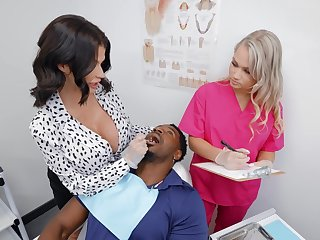 Black man puts his giant dick in cunts of Joslyn James and Harley King