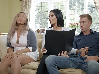 British milf Jasmine Jae gives her head added to takes huge cock in wet yummy slit